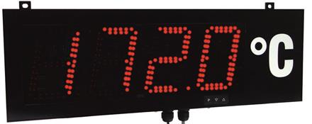 Large size display 57mm, RS232/RS485 ASCII protocol Aux 18-36VDC