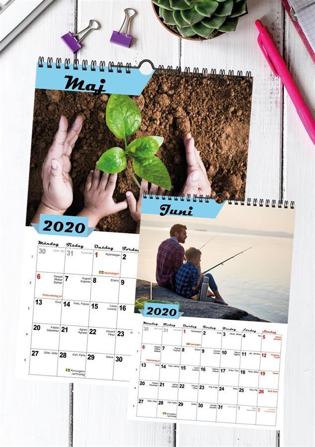 Fotokalender A4/A3, inlaga