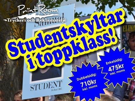 Skara Studentskylt 2018