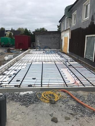 Utbyggnad av industribyggnad med golvvärme