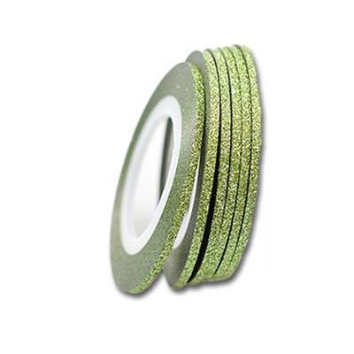 KN- Glitter Stripe Green