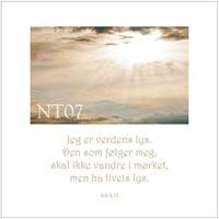 Postkort Joh 8,12