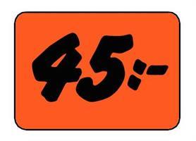 Etikett 45:- 50x30mm