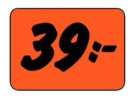 Etikett 39:- 50x30mm