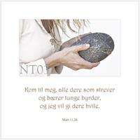 Postkort Matt 11,28