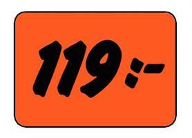 Etikett 119:- 50x30mm