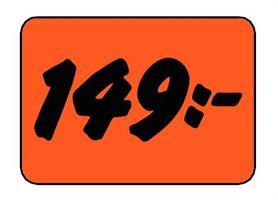 Etikett 149:- 50x30mm