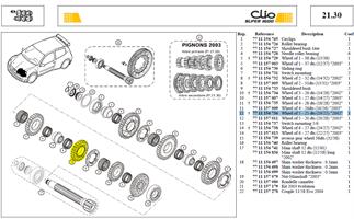 ROUE 5-25DTS SECONDAIRE 25X19 - Wheel of 5 - 25 dts (19/25)
