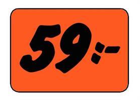 Etikett 59:- 50x30mm