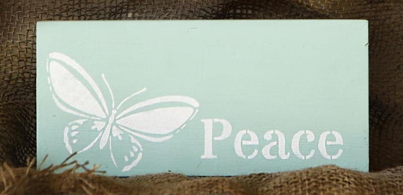 Tekstskilt - Peace