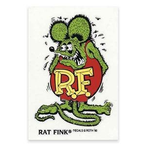 "Rat Fink dekal 6"""