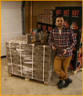 3 x Hot-Brikettiklapi Eurolava 2880kg (Hinnat sisältävät rahdin)