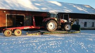 Traktorn får plats
