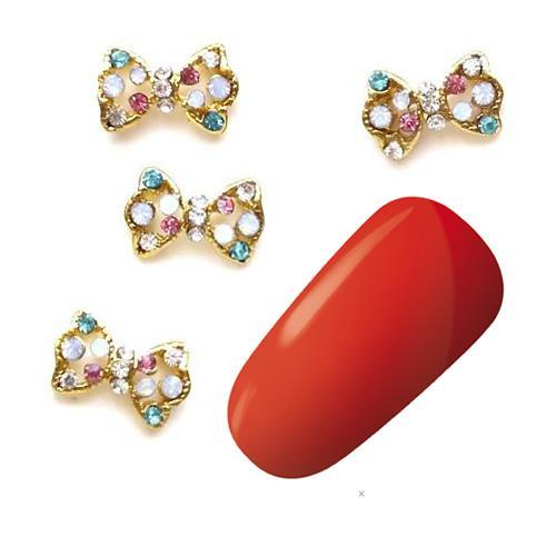 KN- JEWELRY bow stones GOLD