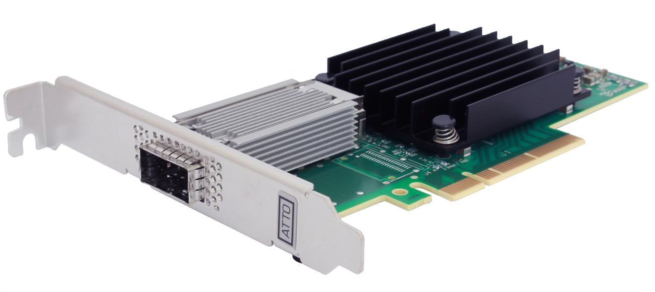 Atto FastFrame single 50 Gbe PCI-e kort