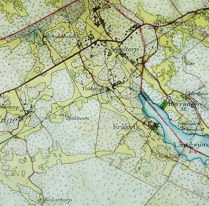 Karta över Segeltorp