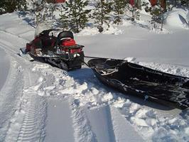 Snøscooter kupling X sled