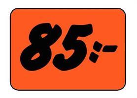 Etikett 85:- 50x30mm