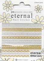 DL- PA Sticker Gold & Silver Lace