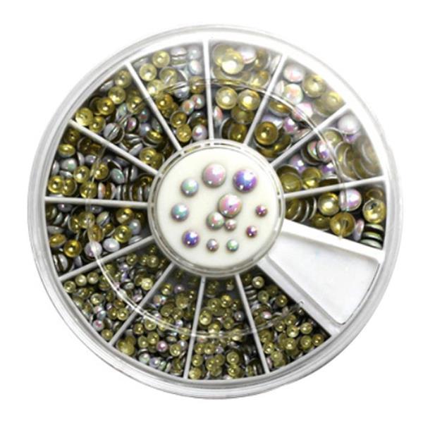 KN- WHEEL White metallic pearls