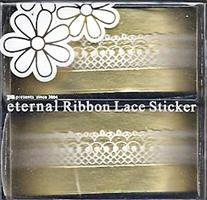 DL- Sticker Ribbon lace white 02