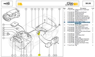 CABLE+BATTERI - Power cable-+ve Battery/Circuit breaker XAP