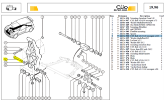 VIS CHCM 12X120 RECOUPEE LG:105 - CHS Bolt M12-120