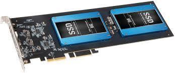 Sonnet PCI-e kort m/ 2 x1TB SSD disker
