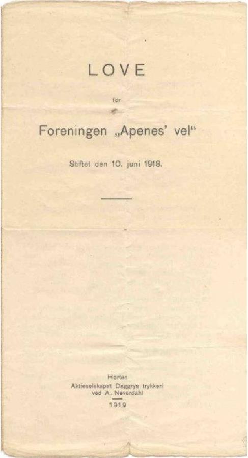 "De første ""love"" anno 1919 (s.1)"