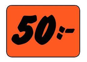 Etikett 50:- 30x20mm