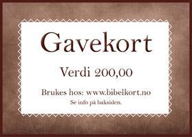 Gavekort 200,-