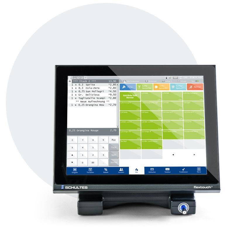 Schultes S-700 flextouch+ vaihtoehtoisesti kapasitiivisella näytöllä