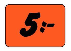 Etikett 5:- 50x30mm