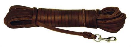Spårlina Läder 8mm Brun 10m