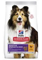 Hills Hund Adult Sen.Stomach&Skin Medium Chicken 2.5kg