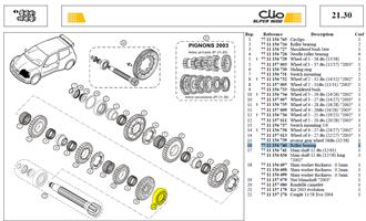 RLT NUP207EC RETOUCHE - Roller bearing