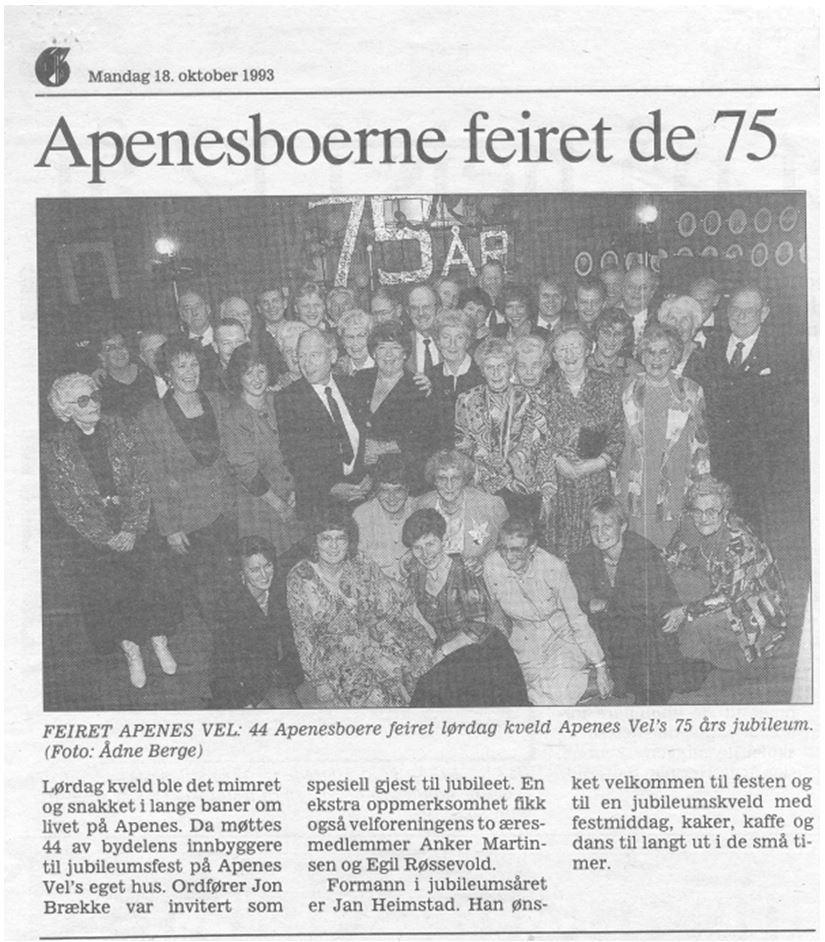 Apenesboerne feiret de 75
