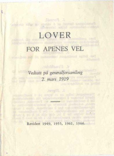 Lover anno 1966 side 1