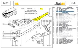 Tube liaison evo 2005 - Y piece-Exhaust manifold evo 2005