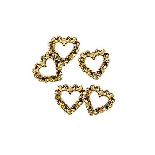 DM- Nail Art Deco Gold HEART
