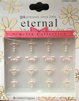 DL- Sticker jewel cross pink