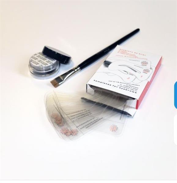 Ögonbrynsmallar kit, inkl. mineralpuder