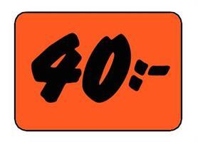 Etikett 40:- 30x20mm