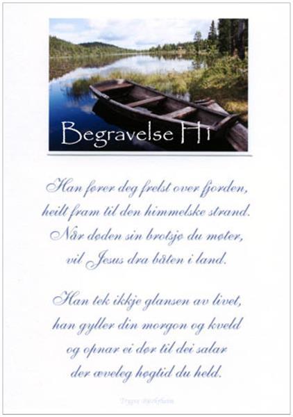 Han fører deg frelst over fjorden - Håndlaget kort