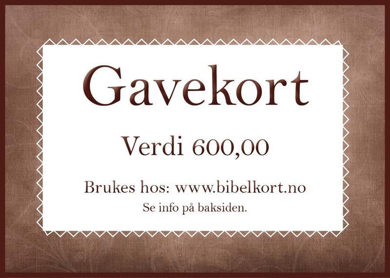 Gavekort 600,-
