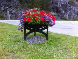 Blomsterurne 60 cm, sort