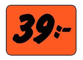 Etikett 39:- 30x20mm