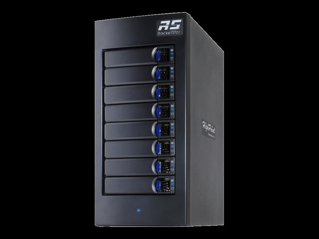 HighPoint Thunderbolt 3 RAID m/ 8 x 8TB SATA HD
