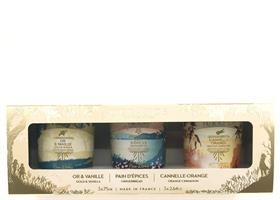 Christmas 2021 Gift set 3 X 75 gr Candles Cinnamon , Ginger