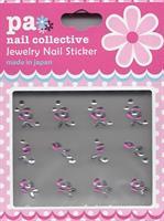 DL- Sticker Jewel cerice rose